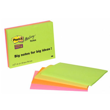 4 blocs de notas Post-it 152x101 mm. Super Sticky 6445-SSP