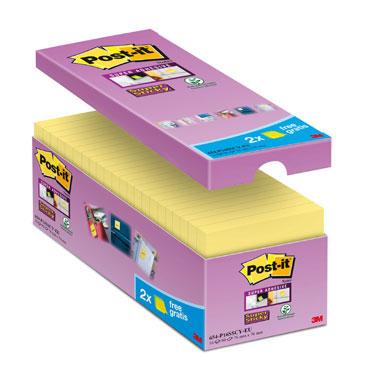 16 BL90 notas Post-it Super Sticky amarillas 76 x 76 mm. 654P16SSCY