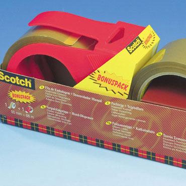 2 cintas embalaje 66 m. x 50 mm. + dispensador Scotch