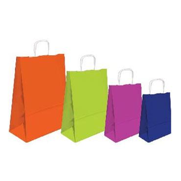 25 bolsas con asa azules tamaño M