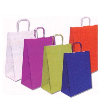 25 bolsas con asa blancas tamaño L
