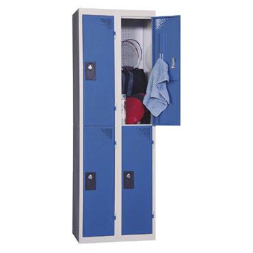 Continuación taquilla 2 compartimentos azul  136339
