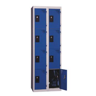Taquilla vestuario 4 compartimentos azul 136351 for Precio taquillas vestuarios