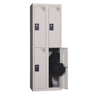 Continuaci n taquilla 2 compartimentos gris 136345 for Precio taquillas vestuarios