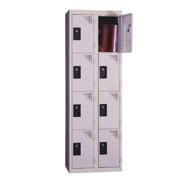 Taquilla vestuario 4 compartimentos gris  136357