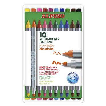 10 rotuladores Double Double Alpino AR000013