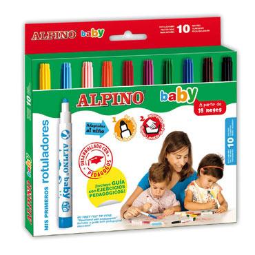 10 rotuladores Alpino Baby AR000056