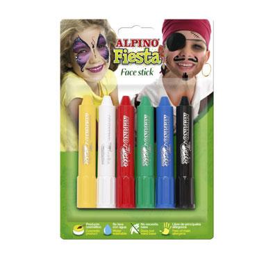6 barras maquillaje colores surtidos Alpino DL000014
