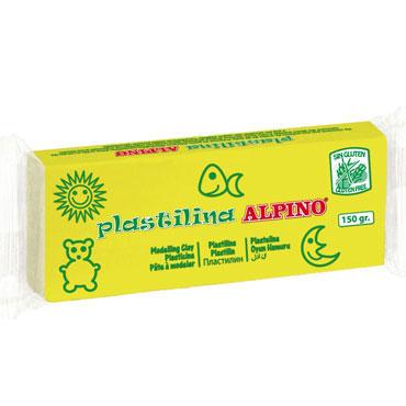12 barras plastilina 150 g. amarillo claro Alpino DP000069
