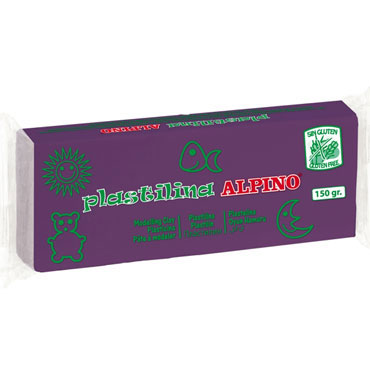12 barras plastilina 150 g. violeta Alpino DP000072