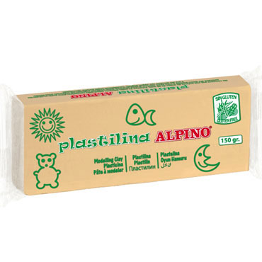 12 barras plastilina 150 g. carne Alpino DP000077
