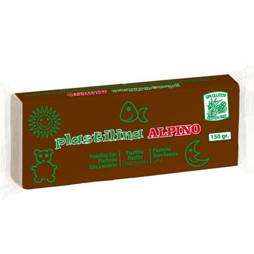 12 barras plastilina 150 g. marrón Alpino DP000078