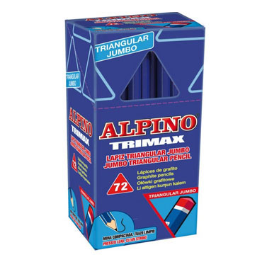72 lápices de grafito Trimax Alpino JU000017