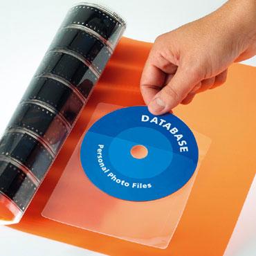 BO6 bolsillos adhesivos 126x126 mm. CD Apli