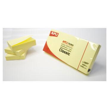 3BL100 notas adhesivas amarillas 50x40 Apli 10977