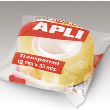 Cinta adhesiva transparente 12 mm. x 33 m. Apli 11169