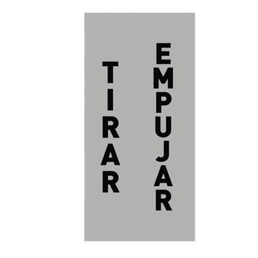 2 etiquetas EMPUJAR/TIRAR 90x165 mm. Apli 12136