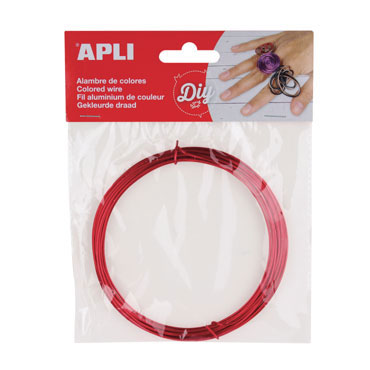 Bobina alambre rojo Apli 14097