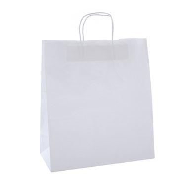 50 bolsas de asa blanco 24x11x31 cm. Apli  101649