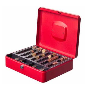 Caja de caudales roja Archivo 2000