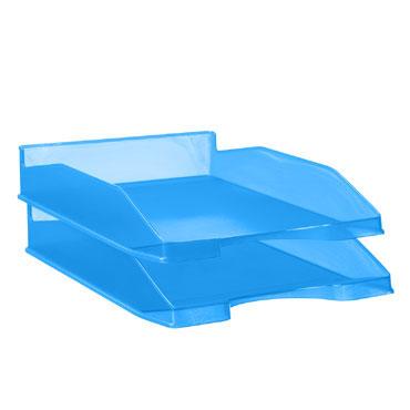 Bandeja portadocumentos azul translúcido Archivo 2000