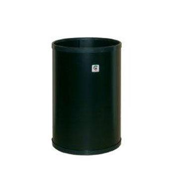 Negro 32 x 21.5 cm Cilindro P-10 Papelera Metal
