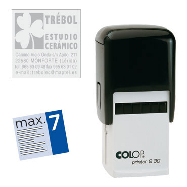 Printer Q30 7 líneas personalizables 30x30 mm. Colop