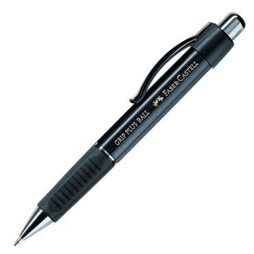 Bolígrafo Grip Plus negro Faber Castell