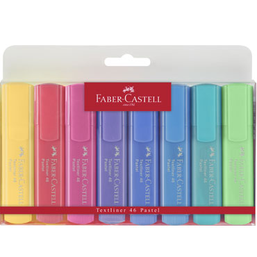 8 marcadores flúor Textliner pastel Faber Castell 154609