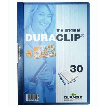 Carpeta Duraclip 30HJ Din A-4 azul Durable 2200-07