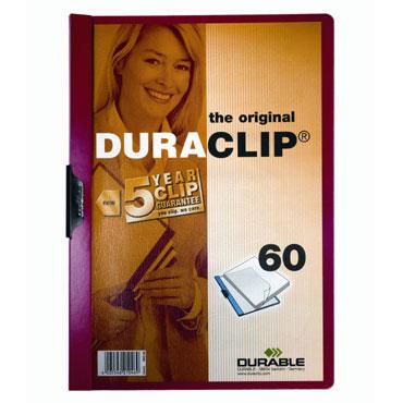 Carpeta Duraclip 60HJ Din A-4 rojo Durable 2209-03
