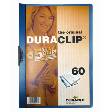 Carpeta Duraclip 60HJ Din A-4 azul Durable 2209-07