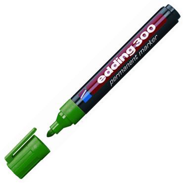 Marcador permanente edding 300 verde 300-004