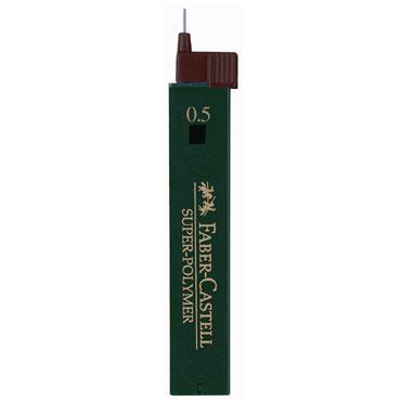 Minas superpolímeras 0,5 mm. 2B Faber Castell 1205-02