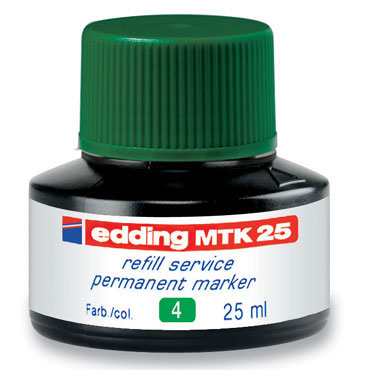 Frasco tinta MTK25 verde edding MTK25-004
