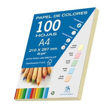 100 hojas papel amarillo 80 g/m² Din A-4 Dohe 30190