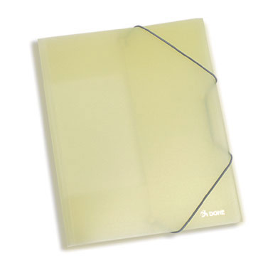 Carpeta gomas PP Din A-4 amarillo Dohe 90408
