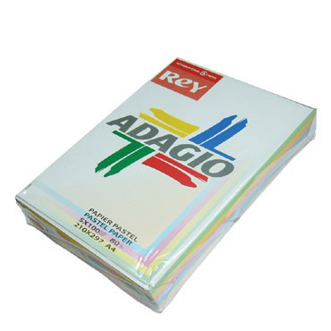 PQ500 papel 5 colores intensos 80 g/m² Din A-4 Adagio 30233