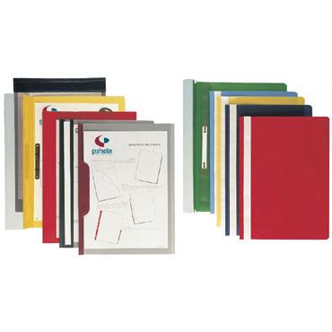 Dossier fastener PP Folio rojo Grafoplás 05031051