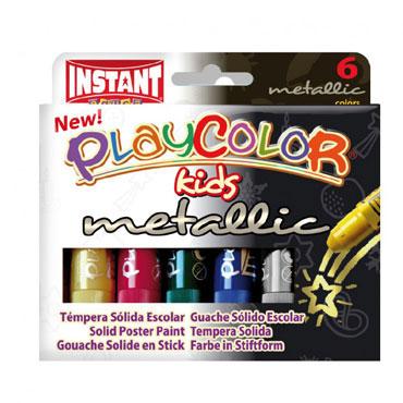 6 barras témpera metálica 10 g. Instant Playcolor 10321