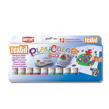 12 barras témpera textil 10 g. Instant Playcolor 10461