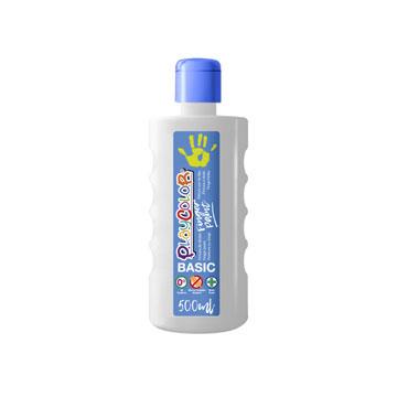 Bote 500 ml. pintura de dedos blanco Playcolor 17701
