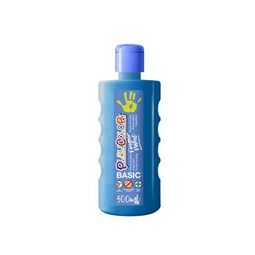 Bote 500 ml. pintura de dedos azul Playcolor 17741