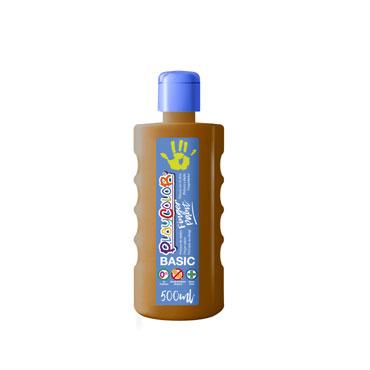 Bote 500 ml. pintura de dedos marrón Playcolor 17761
