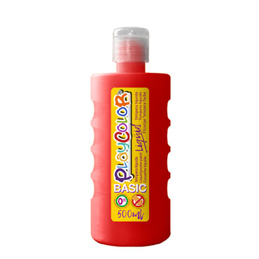 Bote 500 ml. témpera líquida roja Playcolor 19371