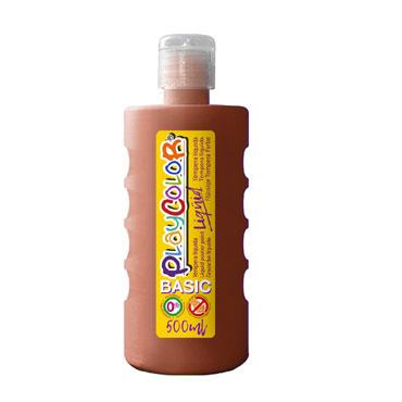 Bote 500 ml. témpera líquida marrón Playcolor 19451