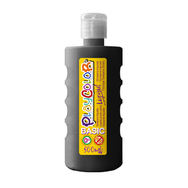 Bote 500 ml. témpera líquida negra Playcolor 19461