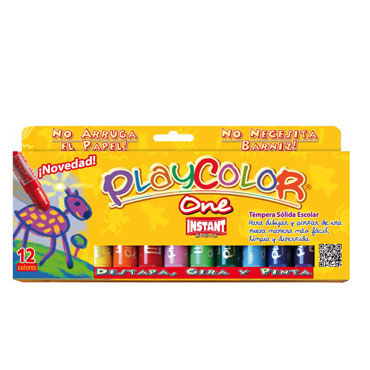 12 barras témpera 10 g. instant Playcolor 10731