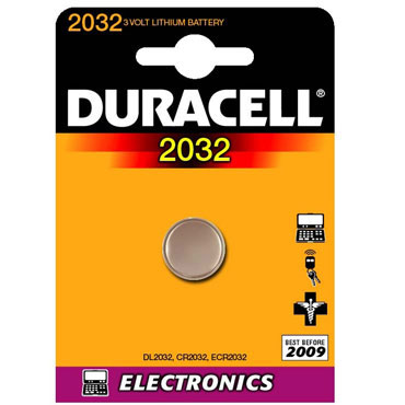 Pila alcalina botón Duracell CR2032