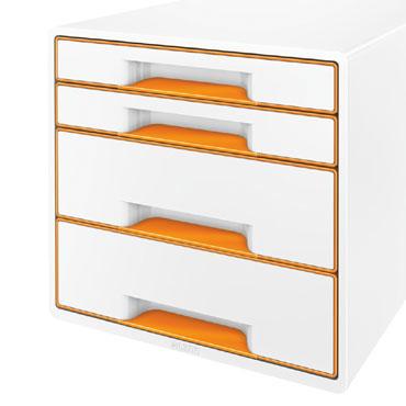 Buc 4 cajones WOW blanco / naranja Leitz